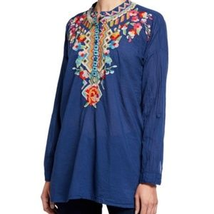 NWT Johnny Was Jessa Boho Embroidered Floral Tunic